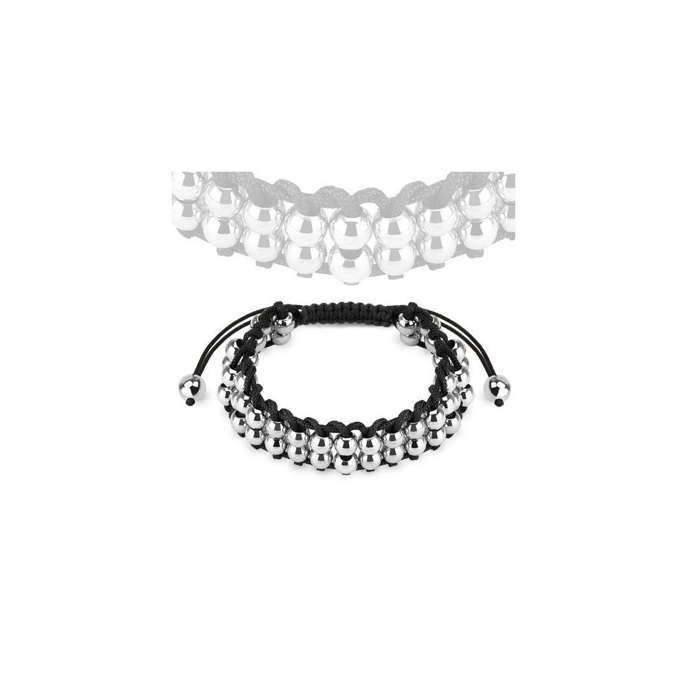 bracelet femme perles acier. Black Bedroom Furniture Sets. Home Design Ideas