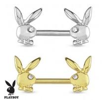 Piercing téton Playboy deux lapins