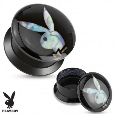Piercing plug acrylique nacre Playboy