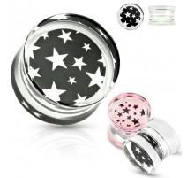 Piercing plug acrylique étoiles