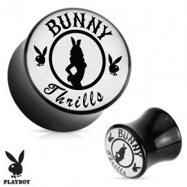 "Piercing plug acrylique Playboy ""Bunny Thrills"""