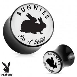"Piercing plug acrylique Playboy ""Bunnies do it better"""
