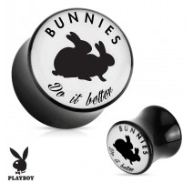 "Piercing plug acrylique Playboy ""Bunnies do it better"""
