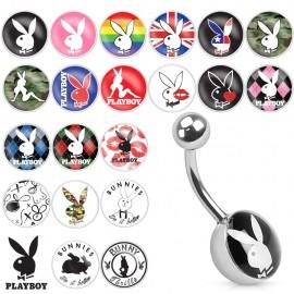 Piercing nombril logo Playboy