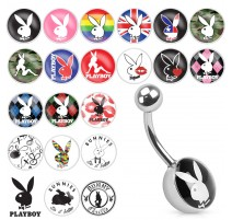 Piercing nombril logo Playboy