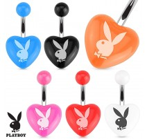 Piercing nombril coeur Playboy