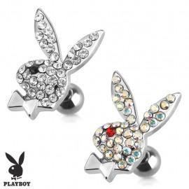 Piercing cartilage lapin Playboy strass
