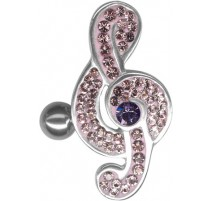 Piercing nombril Crystal Evolution Swarovski Clef de Sol