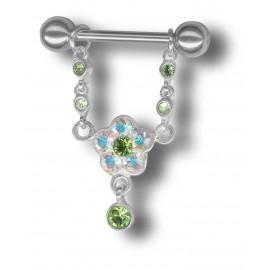 Piercing téton Crystal Evolution Swarovski Fleur