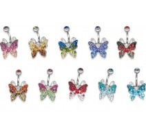 Piercing nombril Crystal Evolution Swarovski Papillon