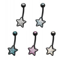 Piercing nombril Crystal Evolution Swarovski Noir Etoile