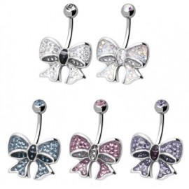 Piercing nombril Crystal Evolution Swarovski Noeud Papillon