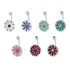 Piercing nombril Crystal Evolution Swarovski Marguerite