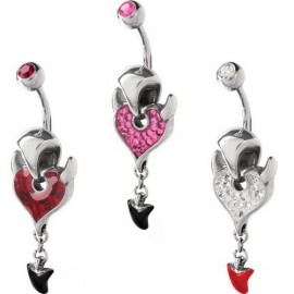 Piercing nombril Crystal Evolution Swarovski Devil Zip