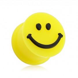 Piercing plug silicone smiley