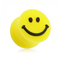 Piercing plug silicone smiley