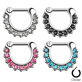 Piercing septum strass