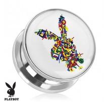 Piercing plug Playboy logo lettres