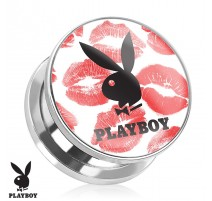 Piercing plug Playboy Kiss