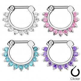 Piercing septum pierres zircon