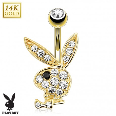 Piercing nombril Playboy Or 14K