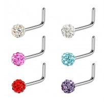 Piercing nez tige L crystal