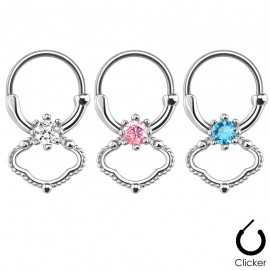 Piercing septum zircon