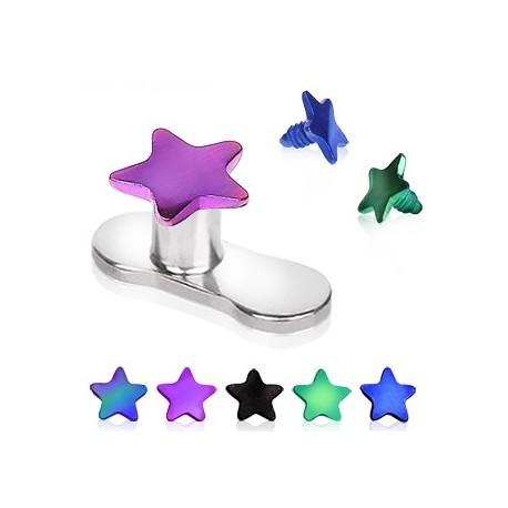 Piercing micro dermal étoile