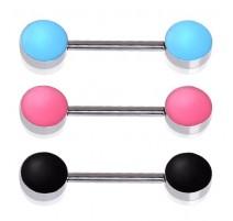 Piercing téton disques colorés