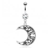 Piercing nombril croissant de lune