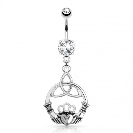 Piercing nombril claddagh noeud celtique