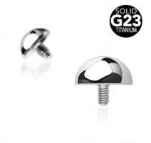 Piercing microdermal dôme Titane G23