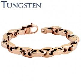 Bracelet homme tungstène couleur or rosé