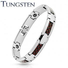 Bracelet homme tungstène fibre de carbone