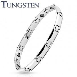Bracelet homme tungstène liens rectangulaires