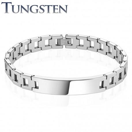 Bracelet homme tungstène plaque