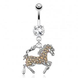 Piercing nombril cheval
