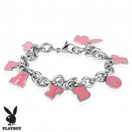 Bracelet Playboy charms rose