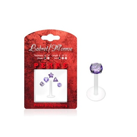 Pack Piercing Labret Bioflex Violet