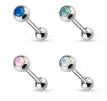Piercing langue opale