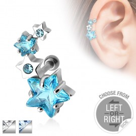 Piercing cartilage quatre étoiles