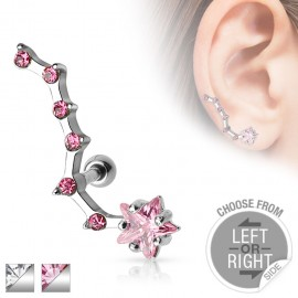 Piercing cartilage étoile 6 strass