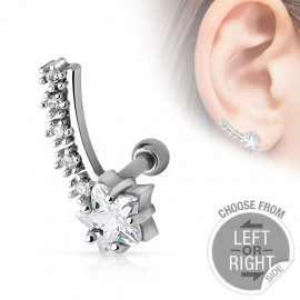 Piercing cartilage étoile filante