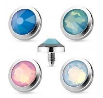 Piercing microdermal opale
