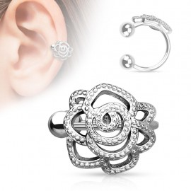 Faux piercing oreille rose