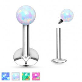 Piercing lèvre opale