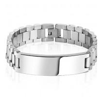 Bracelet homme acier plaque
