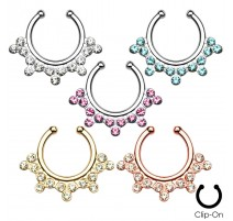 Faux piercing septum flocon de neige