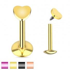 Piercing labret coeur titanium