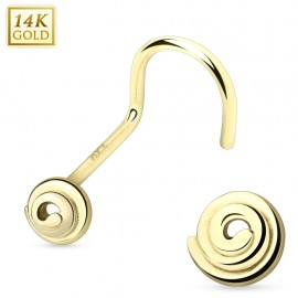Piercing nez or 14 carats spirale